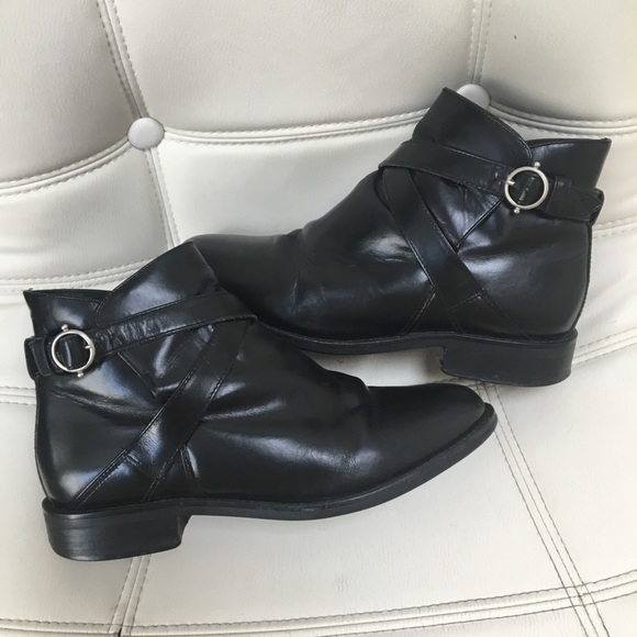 Ariat Shoes - Ariat ATS Equipped Black Leather Short Ankle Boots